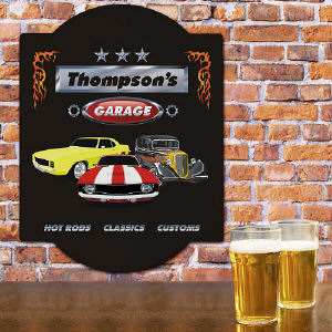 Classic Cars Personalized  Garage Sign