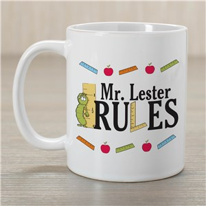 My Teacher Rules Coffee Mug