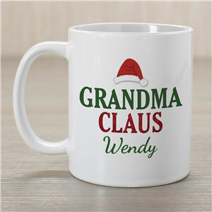 Personalized Grandma Claus Coffee Mug