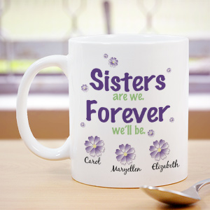 Sisters Forever Personalized Coffee Mug