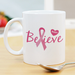 Believe - Breast Cancer Awareness Personalized Coffee Mug