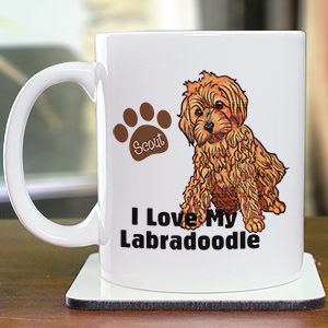 Personalized I Love My Labradoodle Mug