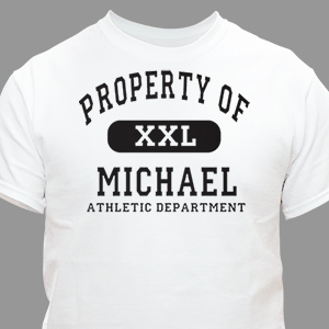 Personalized Property Of T-shirt