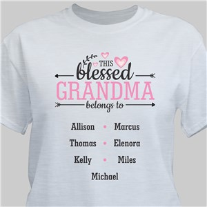 Personalized Blessed Grandma T-Shirt