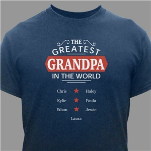 Personalized Greatest Grandpa T-Shirt