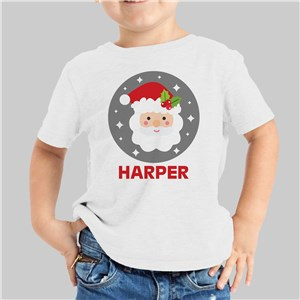 Personalized Santa Youth White T-Shirt