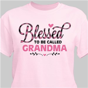 Personalized Blessed To Be Called Pink T-Shirt