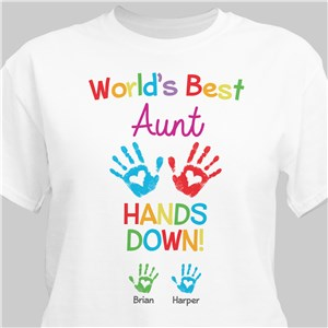 Personalized World's Best Hands Down T-Shirt