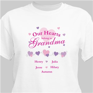 84987e10 Our Hearts Belong To Personalized T-shirt
