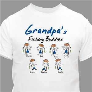 Personalized Fishing Buddies T-Shirt