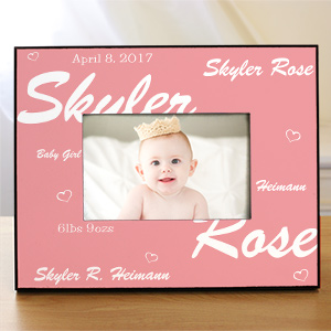 New Baby Girl Printed Frame