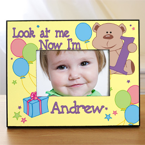 Children's Personalized Birthday Frame - Look at Me, 1,2,3
