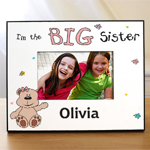 I'm the Sister Teddy Bear Personalized Picture Frame