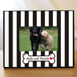 Doggity Dog Striped Picture Frame