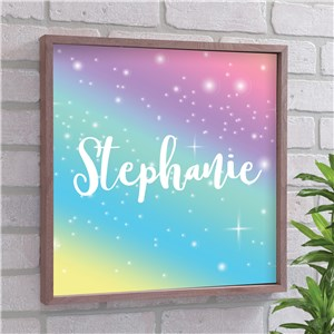 Personalized Rainbow Framed Wall Decor