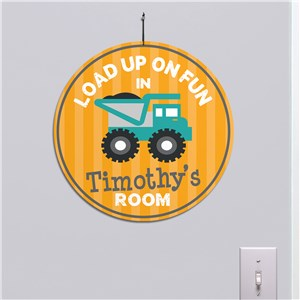 Personalized Load Up On Fun Truck Round Sign