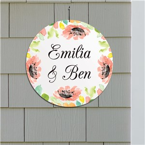 Personalized Watercolor Floral Frame 13
