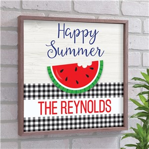 Personalized Happy Summer 10x10 Pallet Sign
