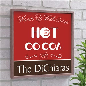 Personalized Hot Cocoa Wood Frame Sign