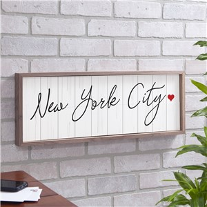 Personalized Custom Message On Wood Background Wall Sign