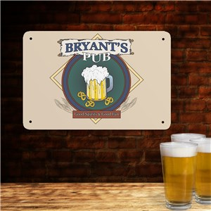Personalized Pub Metal Wall Sign