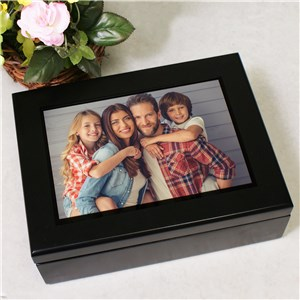 Black Wood Photo Keepsake Box