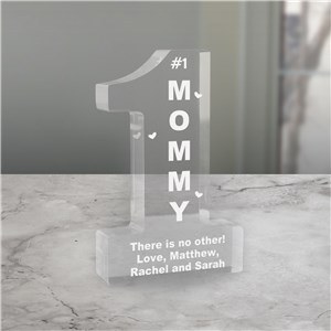 Personalized Number 1 Mom Keepsake