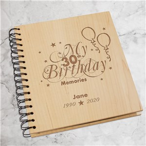 30th Birthday Wood Photo Album