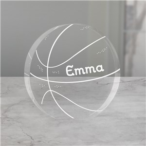 Engraved Basketball Keepsake