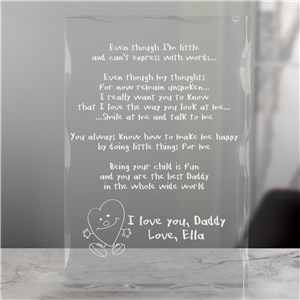 Even Though I am Little Engraved Keepsake