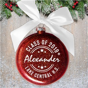 Personalized Glass Class Of...Ornament