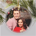 Personalized Photo Round Glass Ornament 8133664R