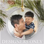 Personalized Photo Upload Round Glass Ornament DESIGNERS ONLY 8152914R
