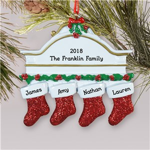 Red Hanging Stockings Ornament