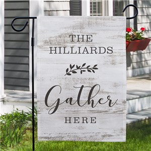 Personalized Gather Garden Flag