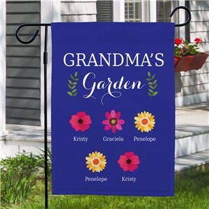 Personalized Grandma's Garden Flag