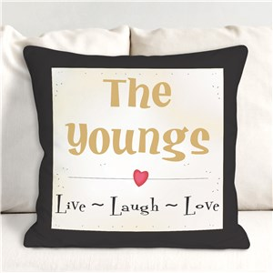 Personalized Live, Laugh, Love Throw Pillow