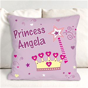 Personalized Princess Throw Children's Pillow