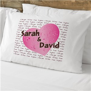 Multi-Lingual I Love You Personalized Pillowcase