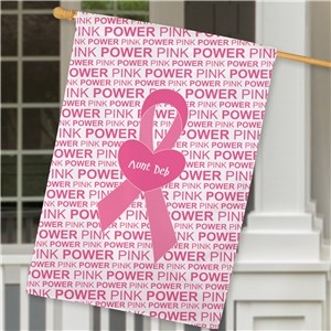 Breast Cancer pink house flag