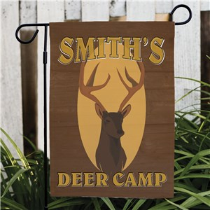 Deer Camp Personalized Garden Flag