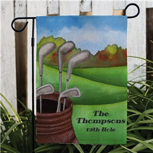 Golf Garden Personalized Flag