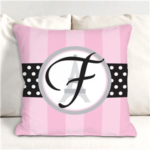 Personalized Eiffel Tower Throw Pillow