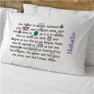 Our Father Prayer Personalized Pillowcase