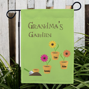 Flower Pot Personalized Garden Flag