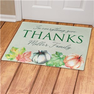 Personalized In Everything Give Thanks Doormat