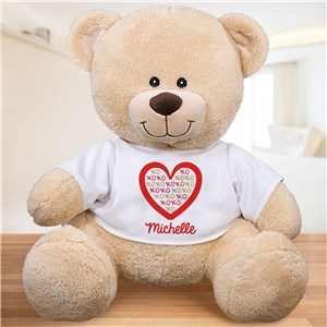 Personalized XOXO Heart Sherman Bear