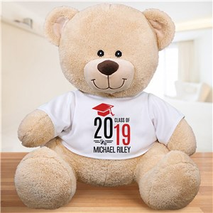 Personalized Graduate Hat With Diploma Sherman Bear