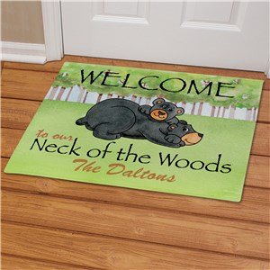 Personalized Bear Neck Of The Woods Doormat
