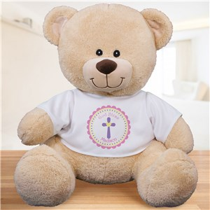 God Bless Personalized Teddy Bear - Pink Design